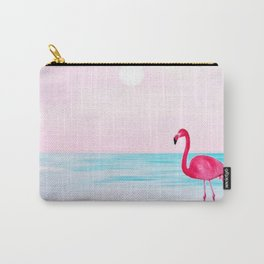 Pink flamingo on a beach Carry-All Pouch