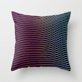 lines and patterns wing light painting Throw Pillow