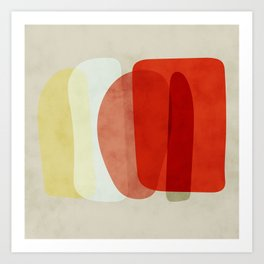 shapes modern abstract Art Print
