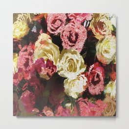 Fuzzy floral Metal Print