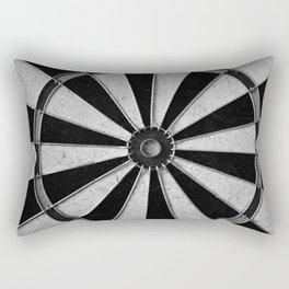 Black and White Darts, Bullseye  Rectangular Pillow