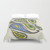 paisley Duvet Covers featuring Paisley by Laura Maxwell