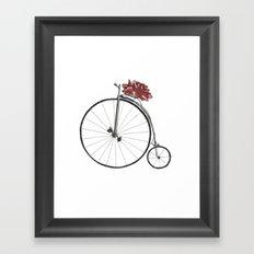 Christmas Bicycle Framed Art Print