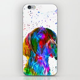 German Shorthaired Pointer Low Poly iPhone Skin