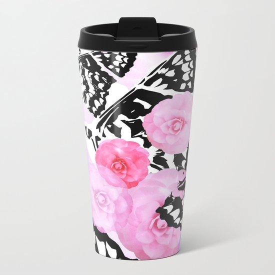 Camellia Blush Metal Travel Mug