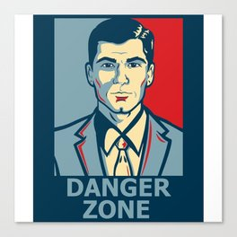 Archer DangerZone Canvas Print