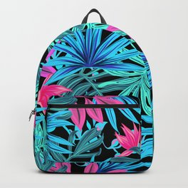 Blue Jungle Artwork Pattern Backpack