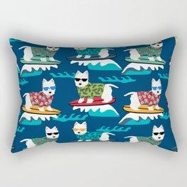 Westie surfing west highland terrier summer fun dog breed Rectangular Pillow