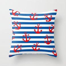 Anchors Aweigh! Throw Pillow