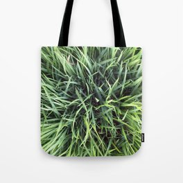 Trendy Grass Pattern  in Vivid Shades of Green Tote Bag