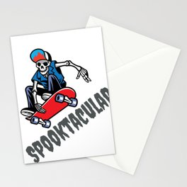 Halloween Spooktacular Skater Skeleton Dude Stationery Cards