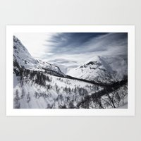 norway Art Prints featuring Norway by Dustin Tan