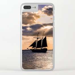 Sunset in Key West, Florida Clear iPhone Case