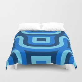 Blue Truchet Pattern Duvet Cover