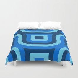 Blue Truchet Pattern Duvet Cover