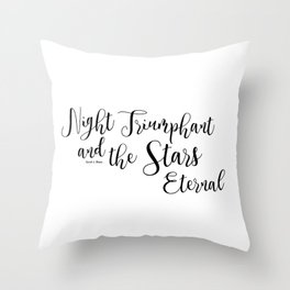 night triumphant and the stars eternal (acowar) Throw Pillow