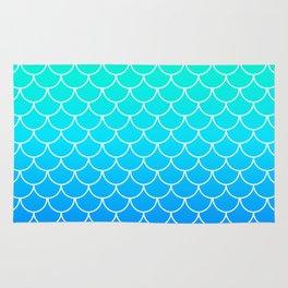 Aqua Mermaid Scales Rug