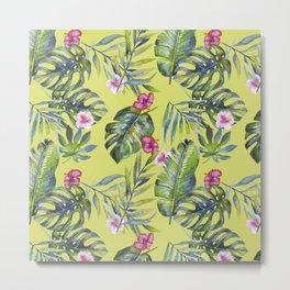 Palm Leaves Pattern 6 Metal Print