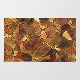 Stained Glass - Copper Rug