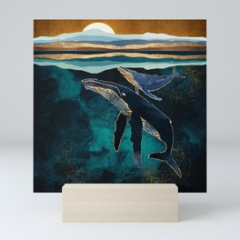 Moonlit Whales Mini Art Print
