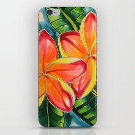 Pink Plumeria of Belize iPhone Skin