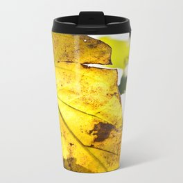 Crisped Leaf Metal Travel Mug