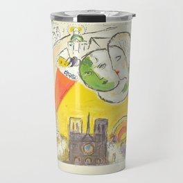 Le Dimanche (On Sundays) from Marc Chagall, 1954 Artwork Derrière le Miroir Magazine, tshirt, tee, j Travel Mug