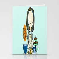 chef Stationery Cards featuring pastry chef by penpun