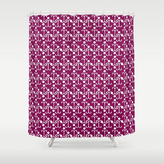 Lattice Pattern (Purple) Shower Curtain