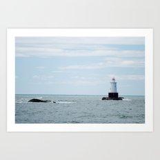 Sakonnet Point Lighthouse Art Print