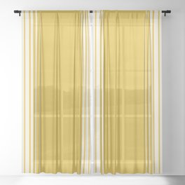 Marigold & Crème Vertical Gradient Sheer Curtain