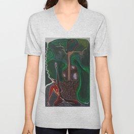 Honouring the Tree Spirits  Unisex V-Neck