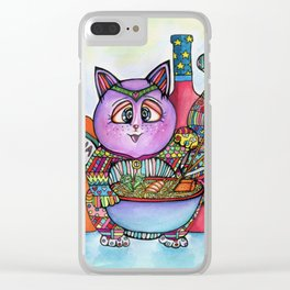 Ramen Cat Clear iPhone Case