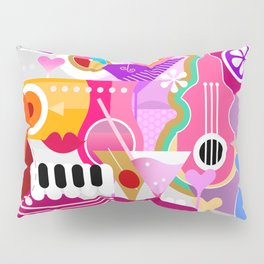 Cocktails and Music Pillow Sham
