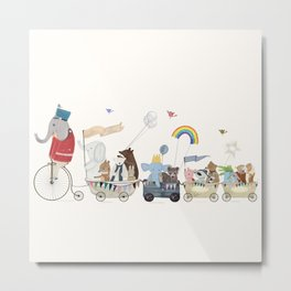 the rainbow parade Metal Print