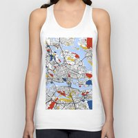 stockholm Tank Tops featuring Stockholm mondrian by Mondrian Maps