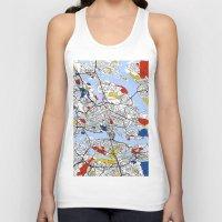 mondrian Tank Tops featuring Stockholm mondrian by Mondrian Maps