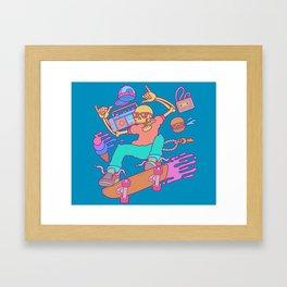 Skull Skater Framed Art Print
