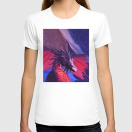 Jewel Toned Dragon of the Amethyst and Ruby Caverns T-shirt