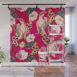 Vintage & Shabby Chic - Tropical Bird Flower Garden Wall Mural