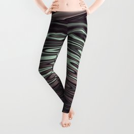 Ripples Fractal in Mint Hot Chocolate Leggings
