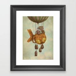 Around the World in the Goldfish Flyer Framed Art Print