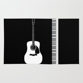 Guitar Piano Duo Rug