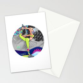 Yoga girl Cool Noodle and Jordan Fresh Prince Stationery Cards