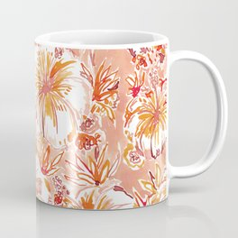 KOMBUCHA-CHA Orange Tropical Hibiscus Floral Coffee Mug