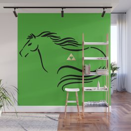 Epona with Triforce Stylized Inking Wall Mural