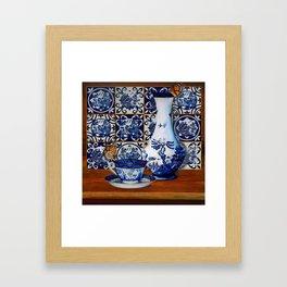 Blue Willow Stillife Framed Art Print