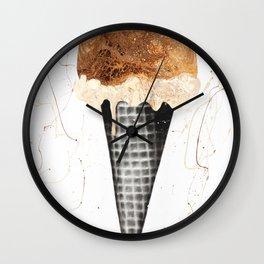 Chocolate Ice Cream Wall Clock