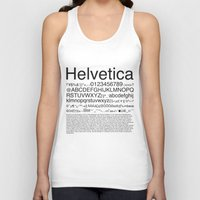 helvetica Tank Tops featuring Helvetica (Black) by Zuno