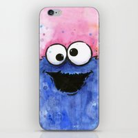 cookie monster iPhone & iPod Skins featuring Cookie Monster by Olechka